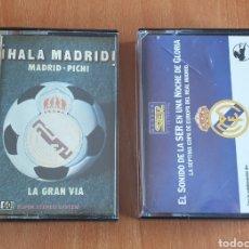 Coleccionismo deportivo: LOTE DE 2 CASSETTES DEL REAL MADRID CF. Lote 255982720