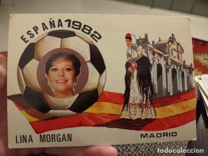 LINA MORGAN VAYA PAR GEMELAS MUNDIAL 82 FUTBOL ESPAÑA POSTAL (Coleccionismo Deportivo - Merchandising y Mascotas - Futbol)