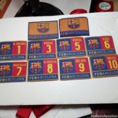 Coleccionismo deportivo: LOTE 10 PARCHES F.C.BARCELONA PIQUÉ, PUYOL, XAVI, MESSI, ETC.... Lote 257909460
