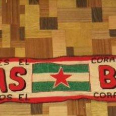Collezionismo sportivo: BUFANDA DEL SEVILLA FÚTBOL CLUB. GRUPO ULTRAS BIRIS. ULTRA SEVILLISTA 1975. Lote 259310565