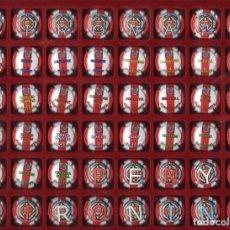 Coleccionismo deportivo: CHAPAS DE CAVA PENYA GIRONINA GIRONA FUTBOL **** COLECCIÓN 48 CHAPAS. Lote 260426545