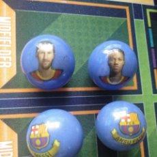 Coleccionismo deportivo: CANICAS DEL FUTBOL CLUB BARCELONA 2021 LEO MESSI ANSU FATI. Lote 261543940