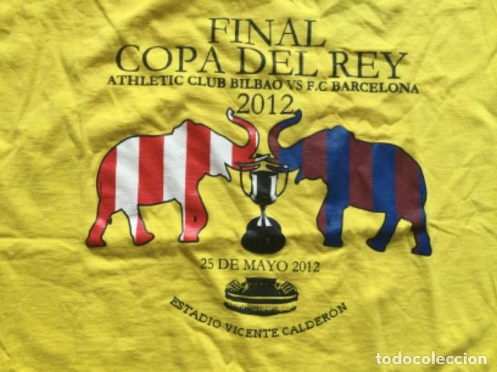 Coleccionismo deportivo: CAMISETA FINAL DE COPA DEL REY, ATHLETIC CLUB BILBAO- FC BARCELONA ,2012, VICENTE CALDERÓN. - Foto 2 - 261606525