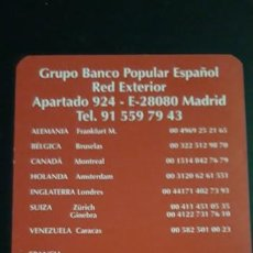Collectionnisme sportif: . 1 CALENDARIO DE ** BANCO POPULAR ** AÑO 2000. Lote 262516990