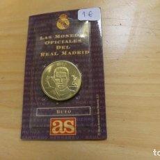 Coleccionismo deportivo: LAS MONEDAS OFICIALES DEL REAL MADRID . BUYO . DIARIO AS .. Lote 262709975