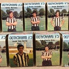 """Coleccionismo deportivo: BARACALDO C.F. TEMPORADA 1973/74. LOTE DE 9 CAJETILLAS DE CERILLAS: DANIEL RUIZ BAZÁN """"DANI"""",..... Lote 263576035"""