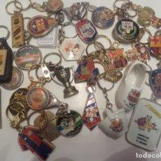 Coleccionismo deportivo: 30 LLAVEROS FUTBOL CLUB BARCELONA. Lote 263959410