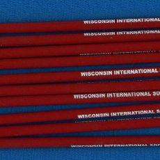Collezionismo sportivo: WISCONSIN INTERNATIONAL SOCCER. 10 LÁPICES USA. Lote 264337604
