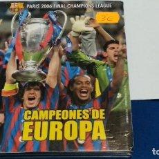 Collezionismo sportivo: DVD F.C. BARCELONA CAMPEONES DE EUROPA - PARIS 2006 FINAL CHAMPIONS LEAGUE + WEMBLEY ´92. Lote 268784329