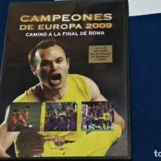 Collezionismo sportivo: DVD F. C. BARCELONA CAMPEÓNES DE EUROPA 2009 CAMINO A LA FINAL DE ROMA + WEMBLEY Y PARIS. Lote 268784819