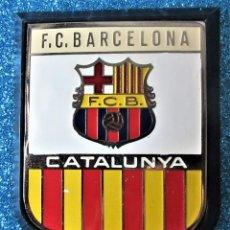 Coleccionismo deportivo: ANTIGUA PLACA DE METAL DEL F.C.BARCELONA. Lote 269041053