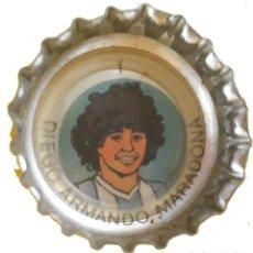 Coleccionismo deportivo: CHAPA TAPA CORONA COLECCION COCA COLA ARGENTINA DIEGO MARADONA AÑO 1982- MUNDIAL ESPAÑA 82. Lote 270576143