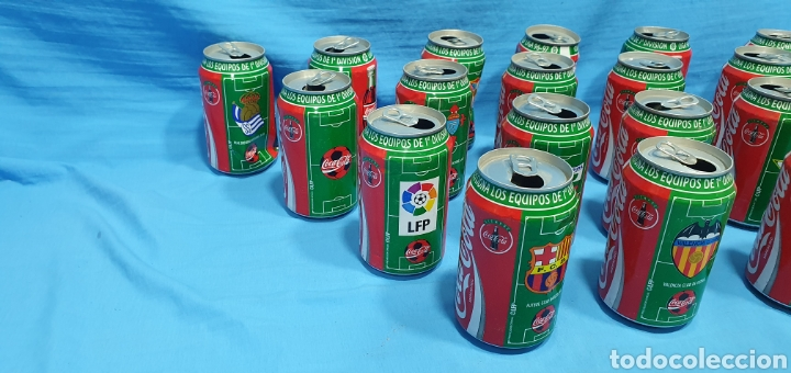 Coleccionismo deportivo: LOTE DE 18 BOTES DE COCA-COLA - EQUIPOS DE 1a DIVISIÓN - LIGA 96 / 97 - Foto 2 - 271038568