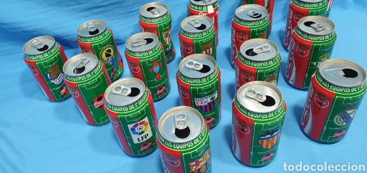 Coleccionismo deportivo: LOTE DE 18 BOTES DE COCA-COLA - EQUIPOS DE 1a DIVISIÓN - LIGA 96 / 97 - Foto 3 - 271038568