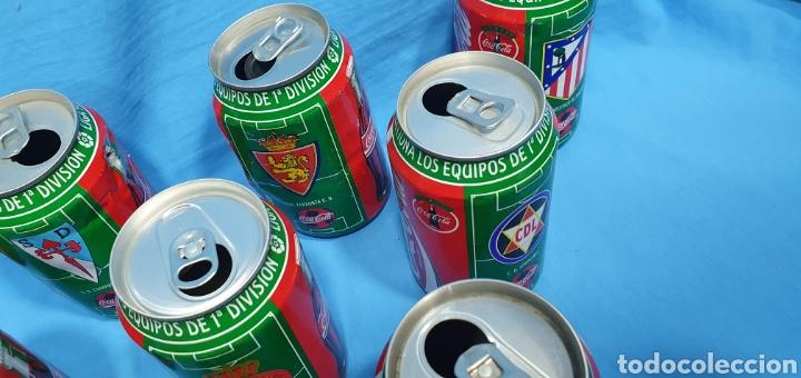 Coleccionismo deportivo: LOTE DE 18 BOTES DE COCA-COLA - EQUIPOS DE 1a DIVISIÓN - LIGA 96 / 97 - Foto 6 - 271038568
