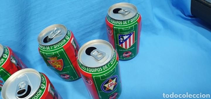 Coleccionismo deportivo: LOTE DE 18 BOTES DE COCA-COLA - EQUIPOS DE 1a DIVISIÓN - LIGA 96 / 97 - Foto 7 - 271038568