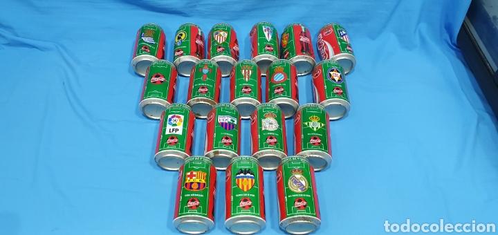 Coleccionismo deportivo: LOTE DE 18 BOTES DE COCA-COLA - EQUIPOS DE 1a DIVISIÓN - LIGA 96 / 97 - Foto 8 - 271038568