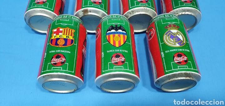 Coleccionismo deportivo: LOTE DE 18 BOTES DE COCA-COLA - EQUIPOS DE 1a DIVISIÓN - LIGA 96 / 97 - Foto 9 - 271038568