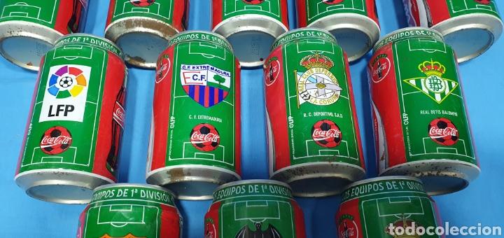 Coleccionismo deportivo: LOTE DE 18 BOTES DE COCA-COLA - EQUIPOS DE 1a DIVISIÓN - LIGA 96 / 97 - Foto 10 - 271038568