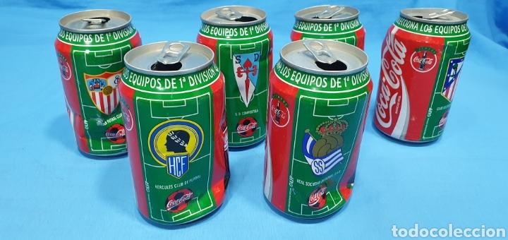 Coleccionismo deportivo: LOTE DE 18 BOTES DE COCA-COLA - EQUIPOS DE 1a DIVISIÓN - LIGA 96 / 97 - Foto 13 - 271038568