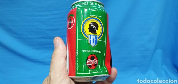 Coleccionismo deportivo: LOTE DE 18 BOTES DE COCA-COLA - EQUIPOS DE 1a DIVISIÓN - LIGA 96 / 97 - Foto 14 - 271038568