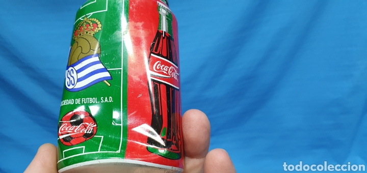 Coleccionismo deportivo: LOTE DE 18 BOTES DE COCA-COLA - EQUIPOS DE 1a DIVISIÓN - LIGA 96 / 97 - Foto 18 - 271038568