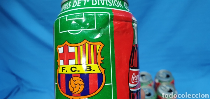 Coleccionismo deportivo: LOTE DE 18 BOTES DE COCA-COLA - EQUIPOS DE 1a DIVISIÓN - LIGA 96 / 97 - Foto 31 - 271038568