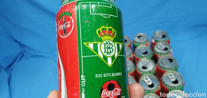 Coleccionismo deportivo: LOTE DE 18 BOTES DE COCA-COLA - EQUIPOS DE 1a DIVISIÓN - LIGA 96 / 97 - Foto 33 - 271038568