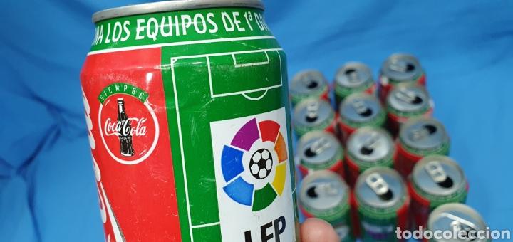Coleccionismo deportivo: LOTE DE 18 BOTES DE COCA-COLA - EQUIPOS DE 1a DIVISIÓN - LIGA 96 / 97 - Foto 34 - 271038568