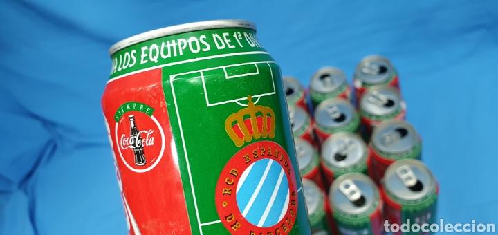 Coleccionismo deportivo: LOTE DE 18 BOTES DE COCA-COLA - EQUIPOS DE 1a DIVISIÓN - LIGA 96 / 97 - Foto 35 - 271038568