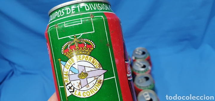 Coleccionismo deportivo: LOTE DE 18 BOTES DE COCA-COLA - EQUIPOS DE 1a DIVISIÓN - LIGA 96 / 97 - Foto 36 - 271038568