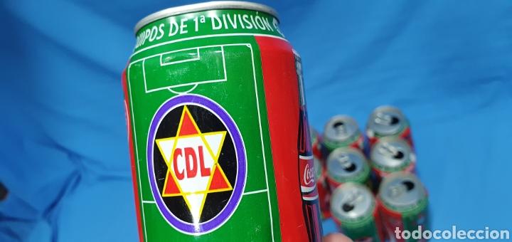 Coleccionismo deportivo: LOTE DE 18 BOTES DE COCA-COLA - EQUIPOS DE 1a DIVISIÓN - LIGA 96 / 97 - Foto 39 - 271038568