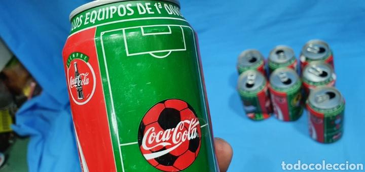 Coleccionismo deportivo: LOTE DE 18 BOTES DE COCA-COLA - EQUIPOS DE 1a DIVISIÓN - LIGA 96 / 97 - Foto 40 - 271038568