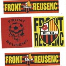 Coleccionismo deportivo: PEGATINAS FRONT REUSENC CLUB FUTBOL REUS DEPORTIVO ADHESIVO REUS DEPORTIU. Lote 274664238