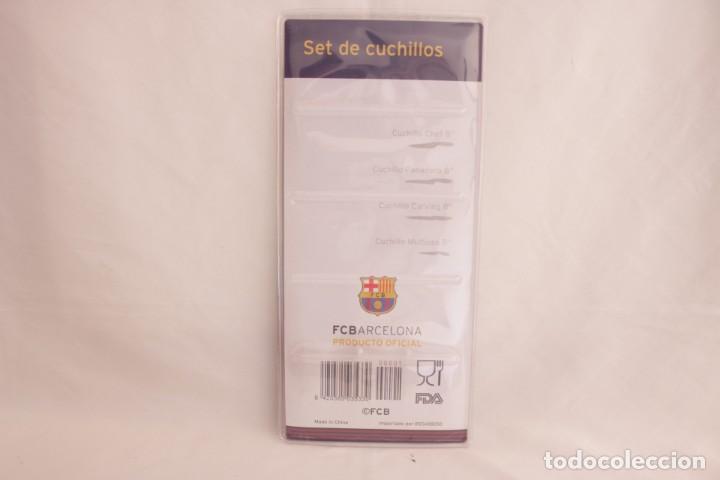 Coleccionismo deportivo: Set de cuatro cuchillos del futbol club barcelona - producto oficial - sin abrir - Foto 2 - 275316648