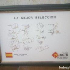 Coleccionismo deportivo: AZULEJO LA MEJOR SELECCION AÑO;87.FIRMAS. Lote 277761618