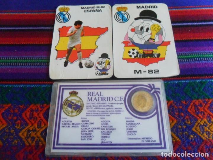 CARNET REAL MADRID MONEDA REY JUAN CARLOS I HISTORIAL PLANTILLA 1983 1984. REGALO 2 CALENDARIOS RARO (Coleccionismo Deportivo - Merchandising y Mascotas - Futbol)