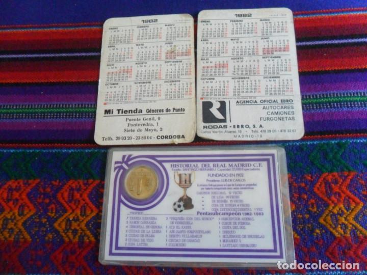 Coleccionismo deportivo: CARNET REAL MADRID MONEDA REY JUAN CARLOS I HISTORIAL PLANTILLA 1983 1984. REGALO 2 CALENDARIOS RARO - Foto 4 - 278230823