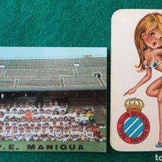 Coleccionismo deportivo: FÚTBOL RCD ESPAÑOL PEÑA ESPAÑOLISTA MANIGUA CALENDARIO 1976 - 1981. Lote 279565428