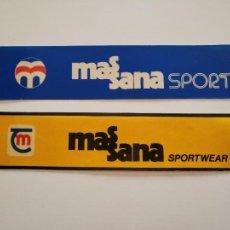 Coleccionismo deportivo: 2 PEGATINAS ADHESIVO MASSANA SPORT (R) RCE ESPANYOL PICHI ALONSO LAURIDSEN. Lote 289461813