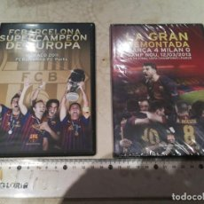 Coleccionismo deportivo: LOTE 2 DVDS FC BARCELONA SUPERCAMPEON DE EUROCOPA Y LA GRAN REMONTADA. Lote 290063503