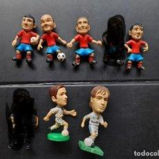 Coleccionismo deportivo: FIGURAS JUGADORES FUTBOL REAL MADRID SELECCION ESPAÑOLA RAUL ALBIOL INIESTA PIQUE.... Lote 290133903