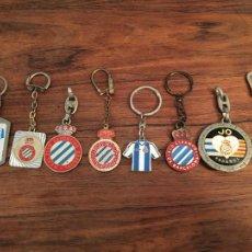 Coleccionismo deportivo: LOTE LLAVEROS REAL CLUB DEPORTIVO ESPAÑOL SARRIA, FUTBOL. Lote 295463023