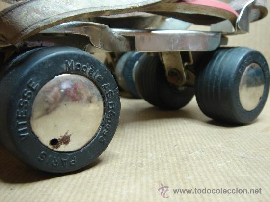 Coleccionismo deportivo: ANTIGUA PAREJA DE PATINES VITESSE MADE IN FRANCE ¡¡¡ ¡¡¡¡ 60s - Foto 2 - 26422657