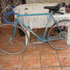 Coleccionismo deportivo: BICICLETA DE CARRERAS SUPER BH GEISTENGUI. FABRICACION ESPAÑOLA. MUY ANTIGUA. Lote 26105775