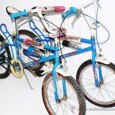Coleccionismo deportivo: LOTE 2 BH BICICLETA ANTIGUA VINTAGE BMX CALIFORNIA RACING TEAM BICI RUEDAS SILLIN AÑOS 80. Lote 35871282