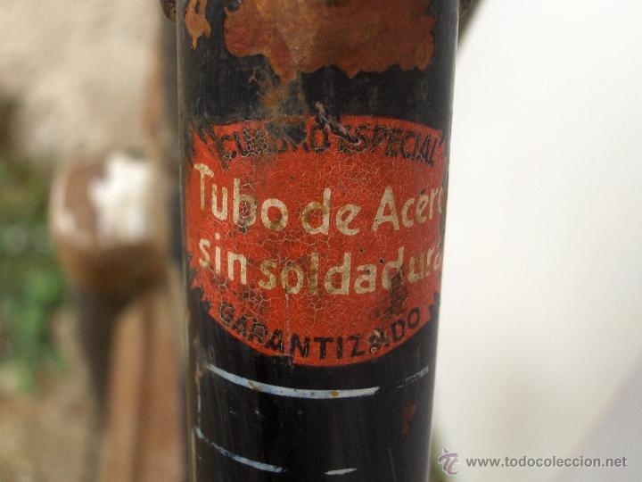 Coleccionismo deportivo: bicicleta varillas super bh antigua de mujer 1940 - Foto 2 - 44771570