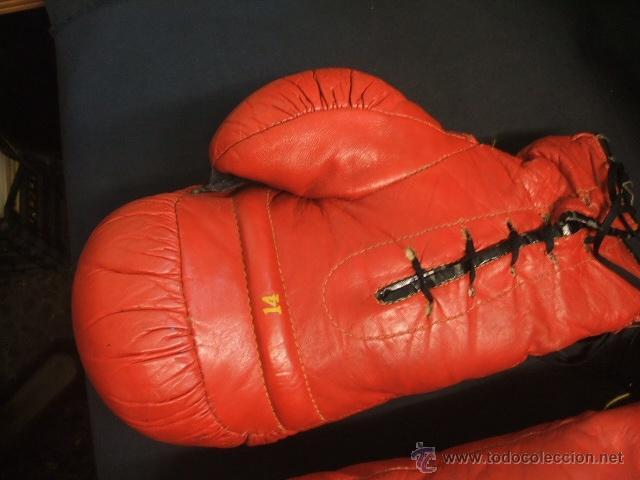 Coleccionismo deportivo: GUANTES DE BOXEO COLOR ROJO - 14 ONZAS - - Foto 5 - 40086186