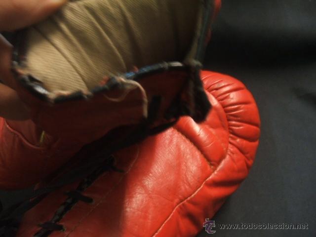 Coleccionismo deportivo: GUANTES DE BOXEO COLOR ROJO - 14 ONZAS - - Foto 8 - 40086186