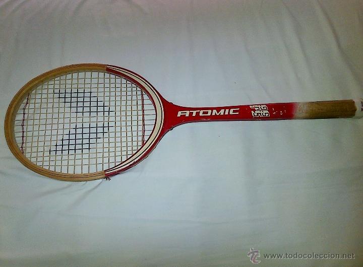 Coleccionismo deportivo: RAQUETA DE TENIS ATOMIC, DE MADERA. - Foto 2 - 40709440